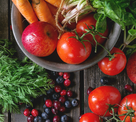 Tomatoes, berries and vegetables - all fresh produce items which use retailer approved printed labelling from ProPrint.