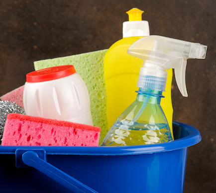 Household cleaning products. ProPrint make durable labels and packaging for a range of household and DIY items.