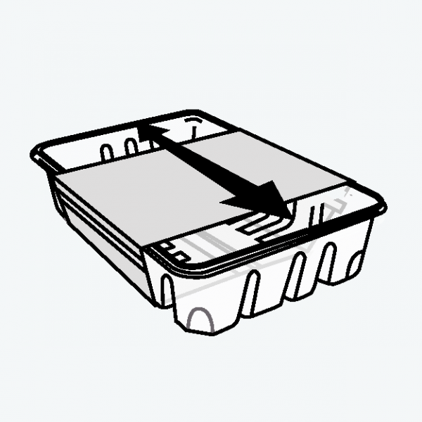 linerless labels slideable full wrap