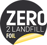 Logo for Zero Foil 2 Landfill certification.
