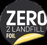 Logo for Zero Foil 2 Landfill certification.