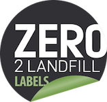 Logo for Zero Labels 2 Landfill certification.