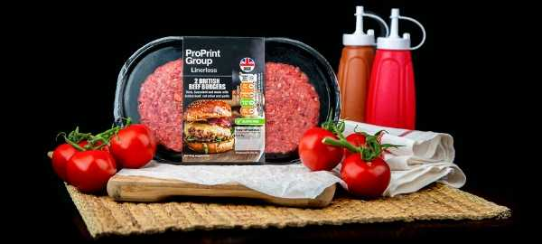 ProPrint Group Linerless Labelling for burgers