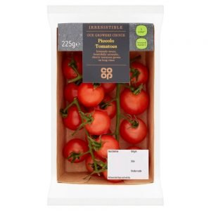 Custom printed carton trays, fully nestable for fresh produce.