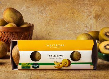 Waitrose Gold Kiwis packed in Linerless Pack soltuion from ProPrint Group