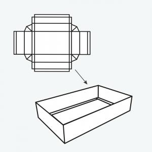 packaging double wall cardboard tray