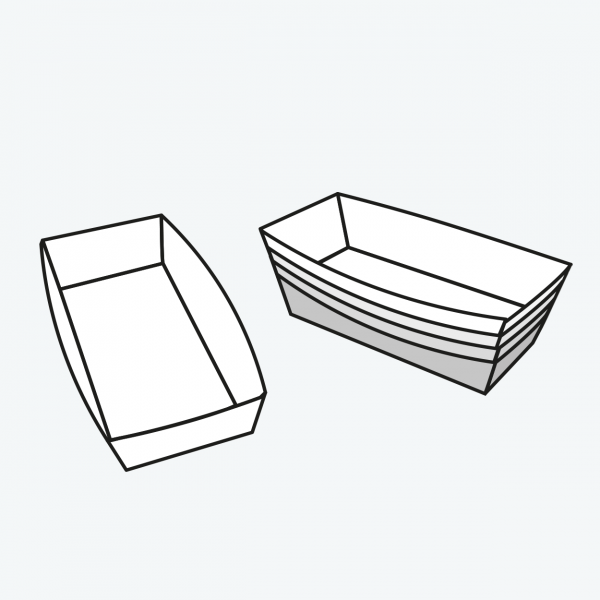 packaging nested cardboard tray