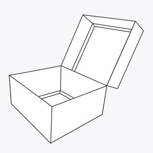 Double wall presentation box